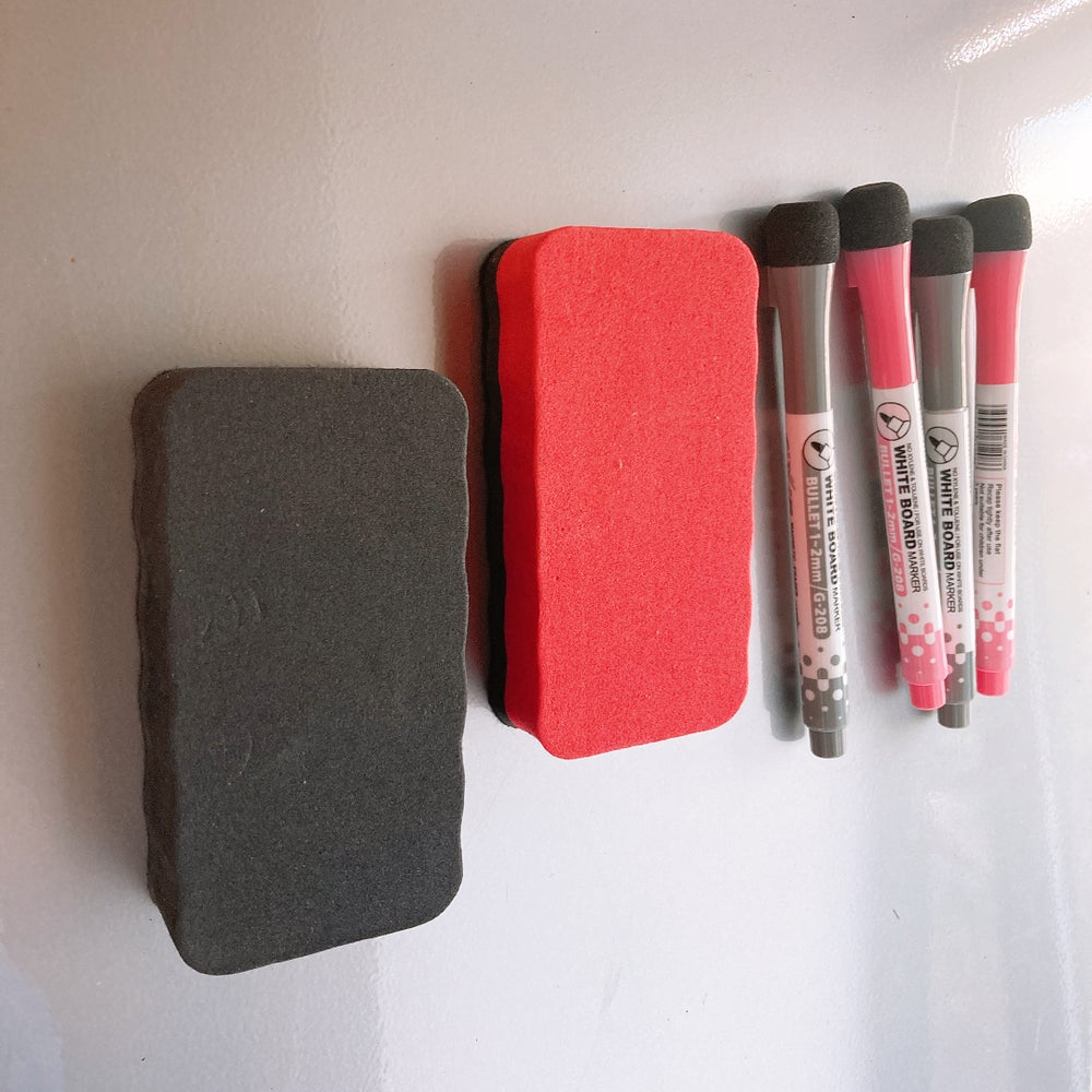 Image of MAGNETIC PLANNER REFILL PACK 4 Whiteboard pens and 2 magnetic