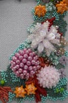 Coral Lagoon Hand Embroidered Wall Art