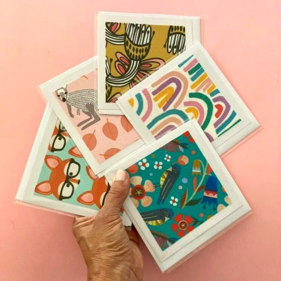 Image of Fabric card bundle