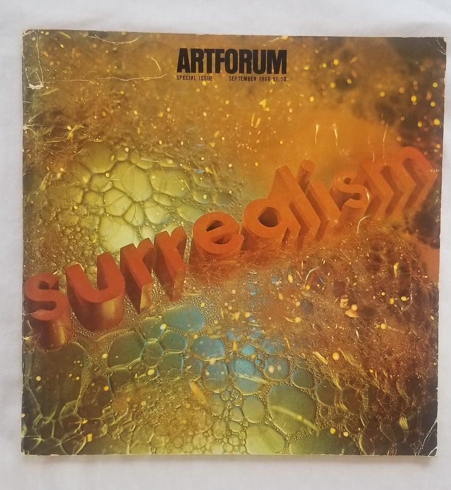 "Image of Ed Ruscha ""SURREALISM"" Art Forum cover 3"