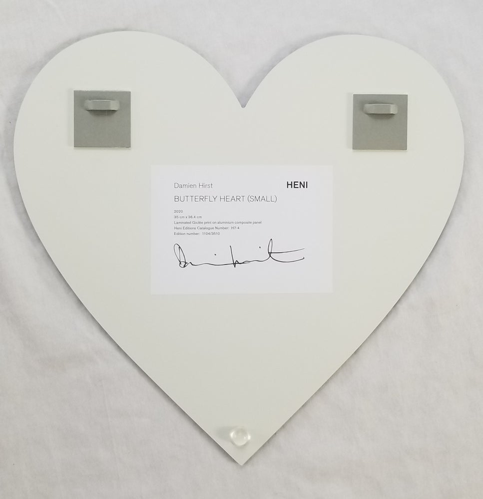 Image of Damien Hirst Heni Heart Edition Butterfly Heart Small
