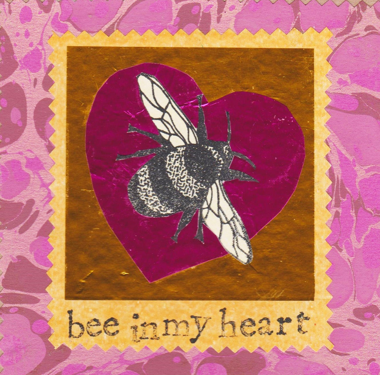 Image of Bee in my heart #2541
