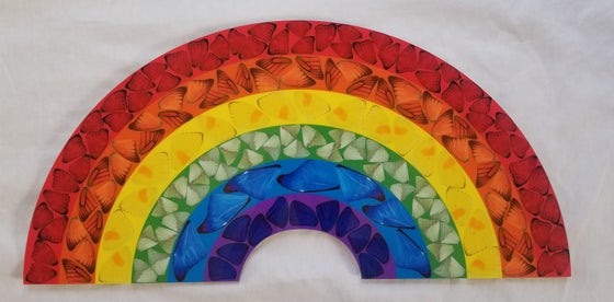 Image of DAMIEN HIRST Heni Butterfly Rainbow Print H7-2 Small.