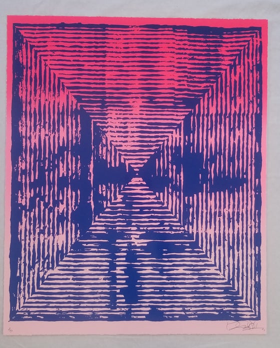 Image of Jason Revok  Loop Magenta Umarine Print Artist Proof AP Print