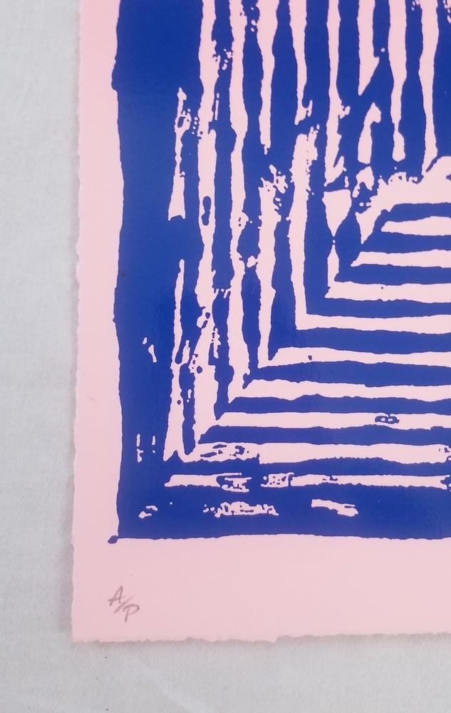 Image of Jason Revok  Loop Magenta Umarine Print Artist Proof AP Print
