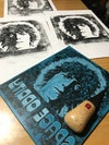 David Bowie. Space Oddity. Hand Made. Original A3 linocut print.