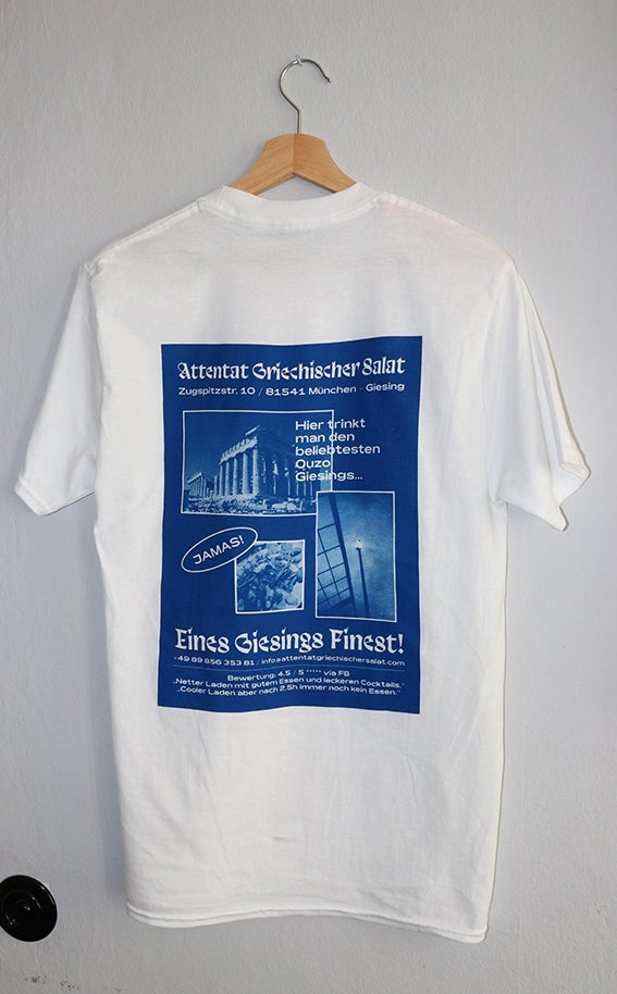 "Image of SUPPORT YOUR LOCAL ATTENTAT T-Shirt by Michael ""Mixen"" Wiethaus"