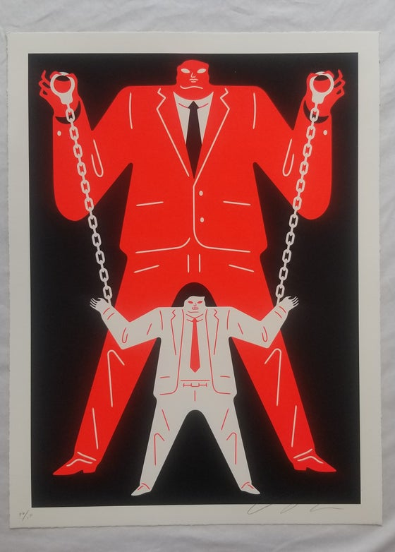 Image of Cleon Peterson Little Man Big Man Muller Red
