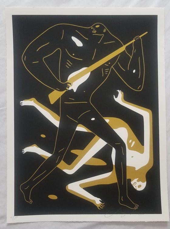 "Image of CLEON PETERSON ""DOOM ALONE"" BLACK/ GOLD"