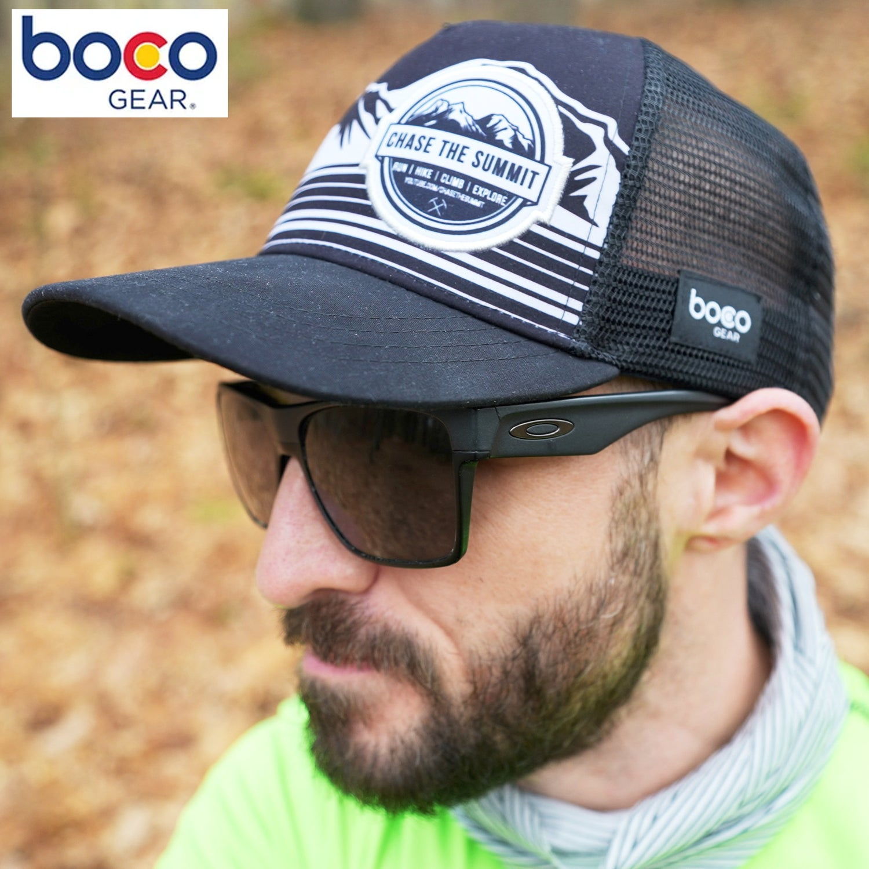 Image of Chase the Summit Technical Trucker - Boco Gear Custom - Black/Gray