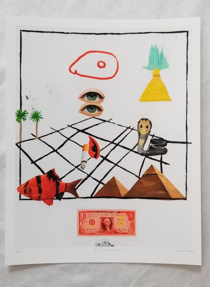 Image of Emilio Villalba  HERO'S JOURNEY (DOUBLE VISION) FINE ART PRINT
