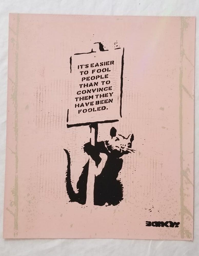 Image of Not Not Banksy L13 Mengle Press April Fools