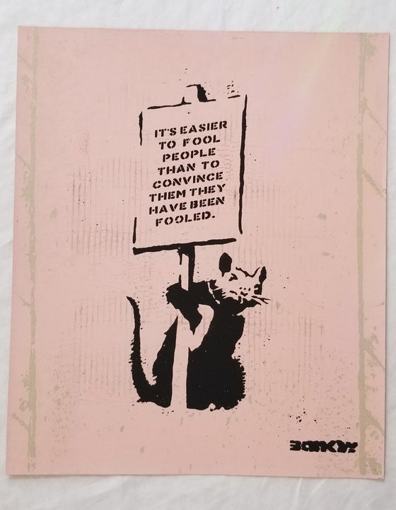 Image of Not Not Banksy L13 Mengle Press April Fools