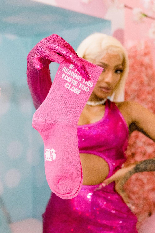 Valentine PB Plush Sock