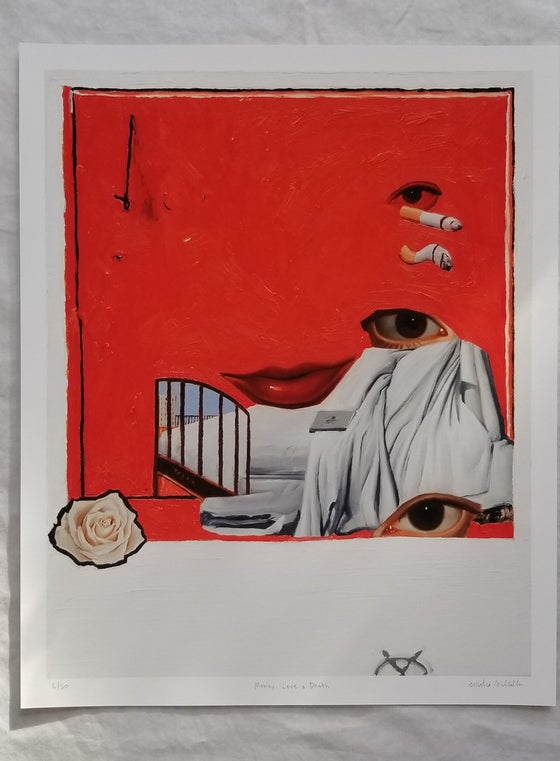 Image of Emilio Villalba MONEY, LOVE AND DEATH Print