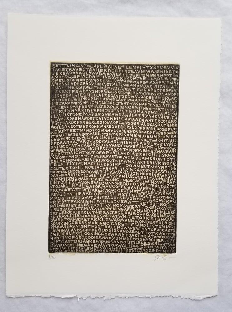 Image of Ben Berres Earl Etching 1/10