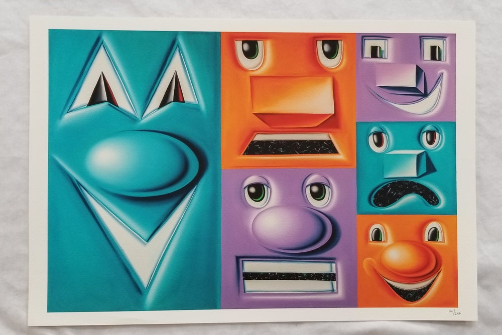 Image of KENNY SCHARF Heliotrope Prints