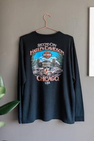 Image of 2000 Harley Davidson Henley Chicago Long Sleeve