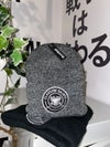 Supporter Beanie - Grey with Black Badge