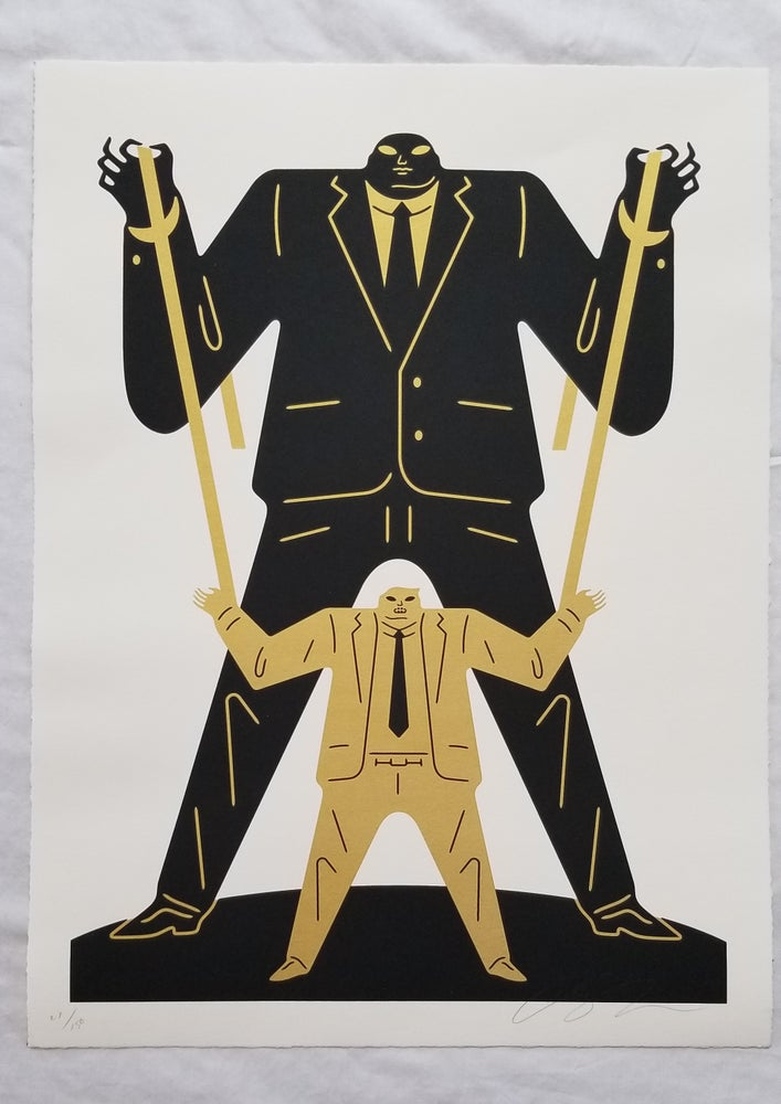 Image of Cleon Peterson Little Man Big Man Putin / Trump, Gold