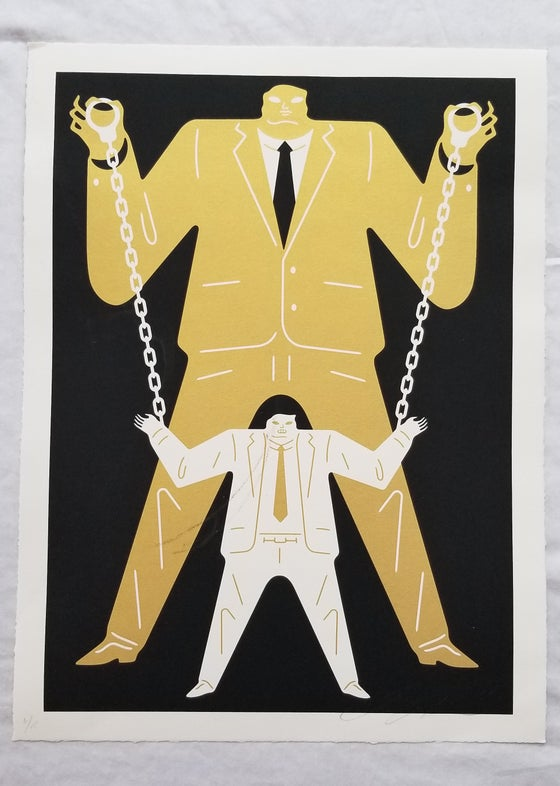 Image of Cleon Peterson Little Man Big Man Putin / Mueller Gold
