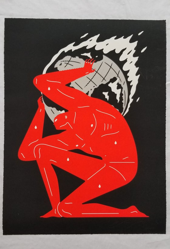 Image of CLEON PETERSON  WORLD ON FIRE ART PRINT BLACK VARIANT