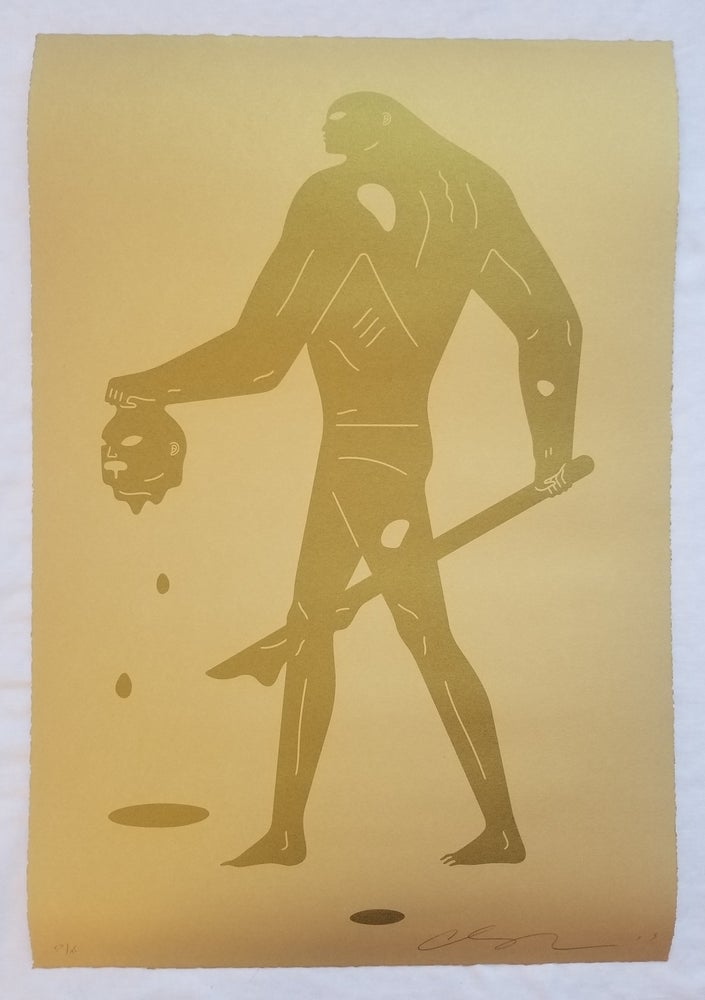 """Image of Cleon Peterson """"Headless Man"""" (Gold On Gold)2"""