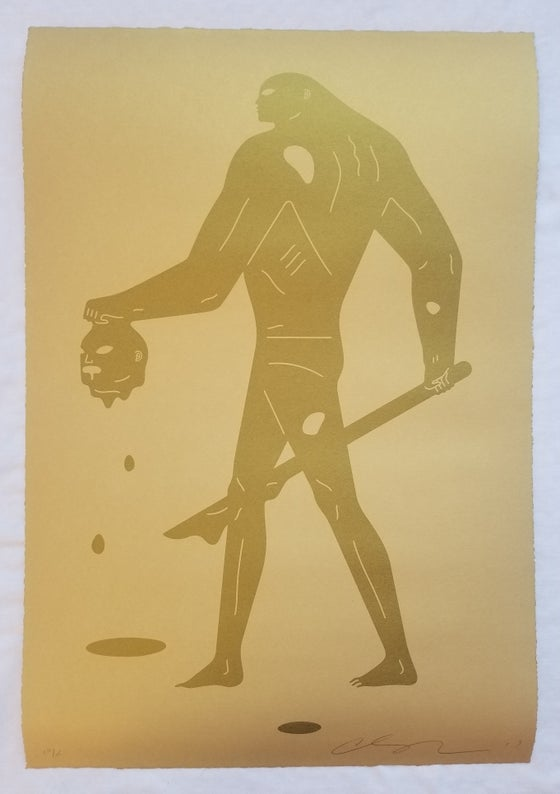 "Image of Cleon Peterson ""Headless Man"" (Gold On Gold)2"