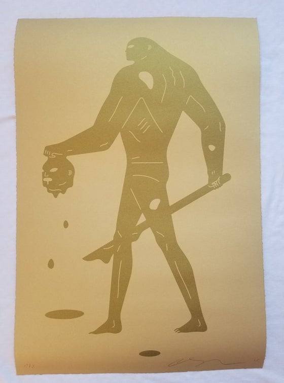 "Image of Cleon Peterson ""Headless Man"" (Gold On Gold)"