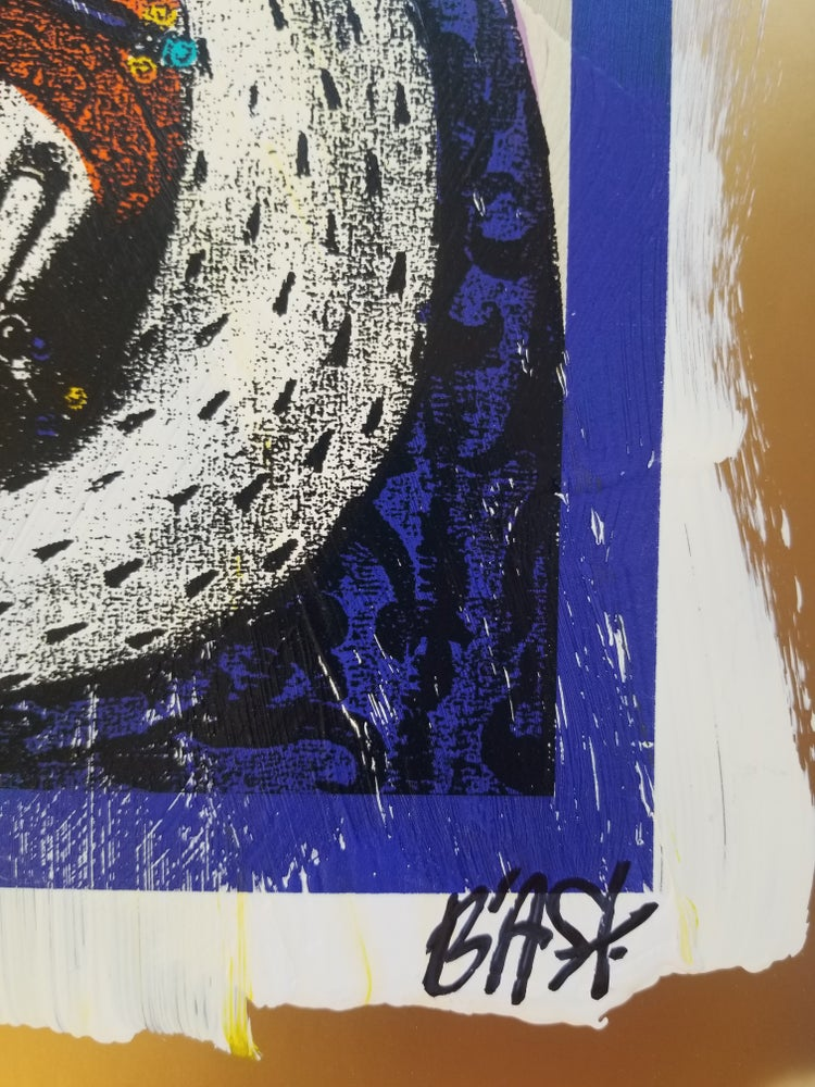 Image of Bast Strap Hanger Screenprint with handfinishing Rare Variant