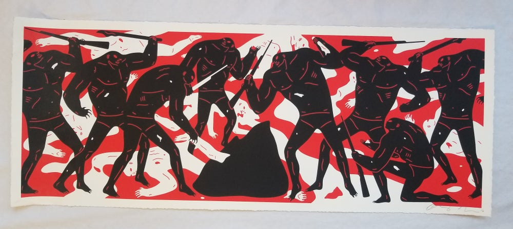 """Image of CLEON PETERSON """"BURNING THE DEAD (RED) ARTIST PROOF"""