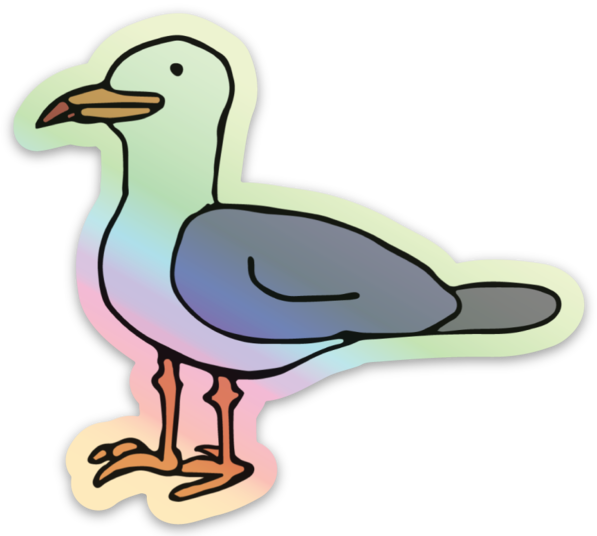Image of Seagull Hologram Sticker