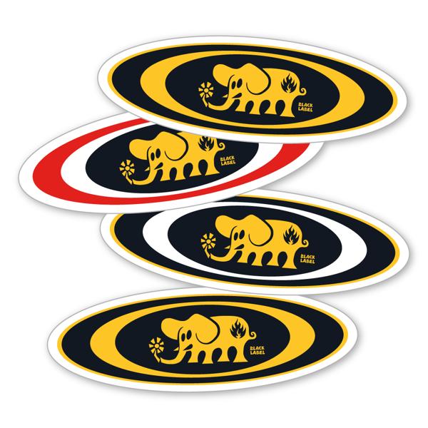 "Image of ""Oval Elephant"" Sticker"