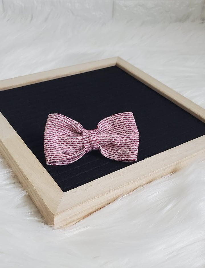 Image of Black cherry bowtie