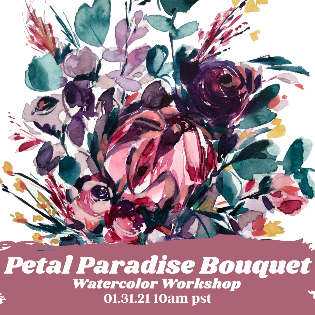 Image of Learn How to Paint A Petal Paradise Bouquet
