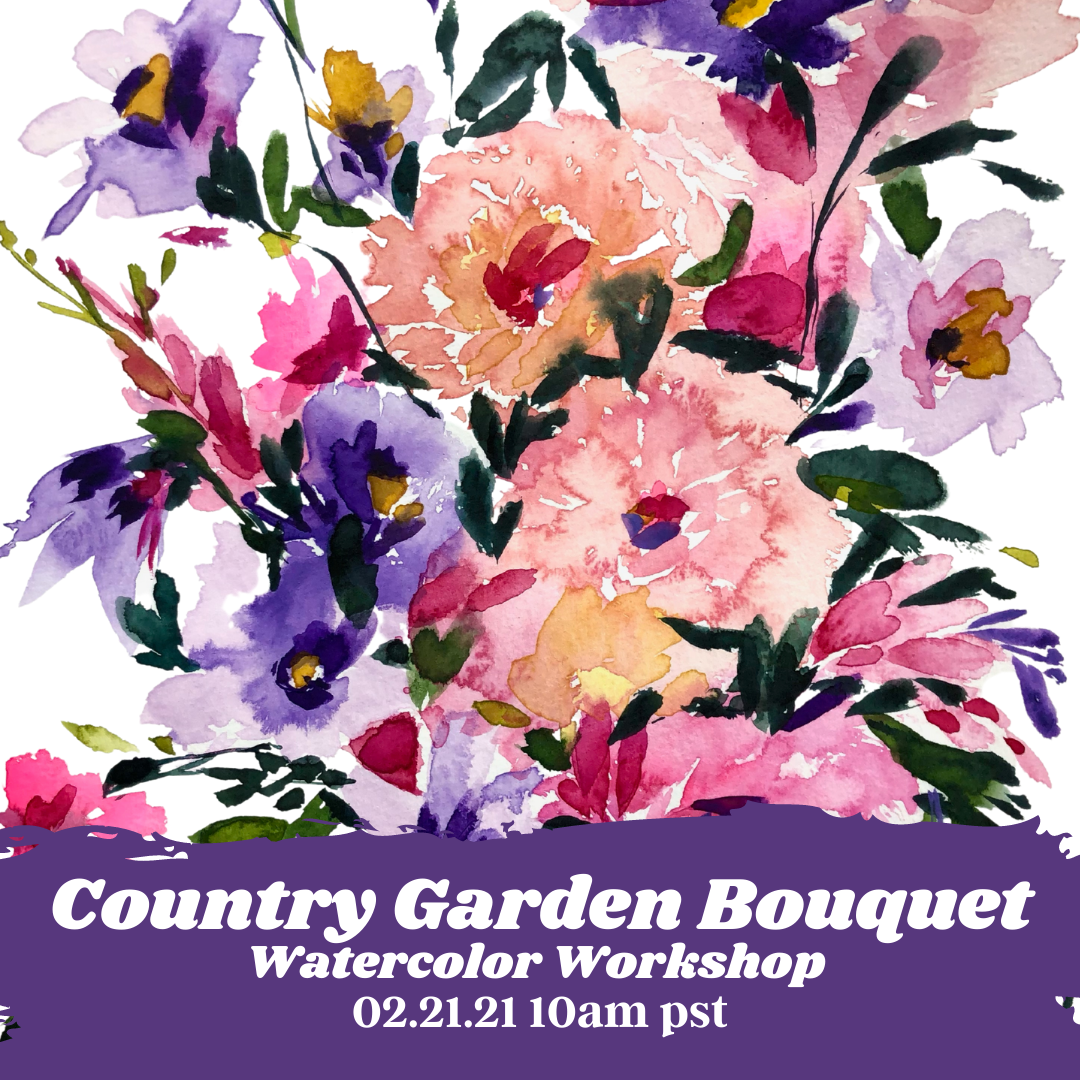 Image of Learn How to Paint A Country Garden Bouquet