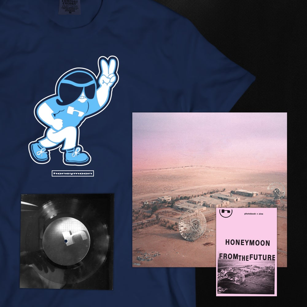 "Image of Honeymoon - 6"" Lathe + Shirt + LP + Zine Bundle"