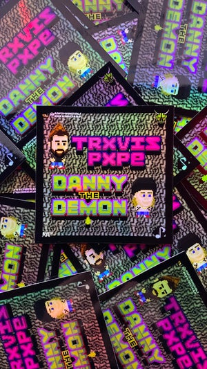 Image of DANNY THE DEMON & TRXVIS PXPE Exclusive (Special Effect) Retrogaming Sticker