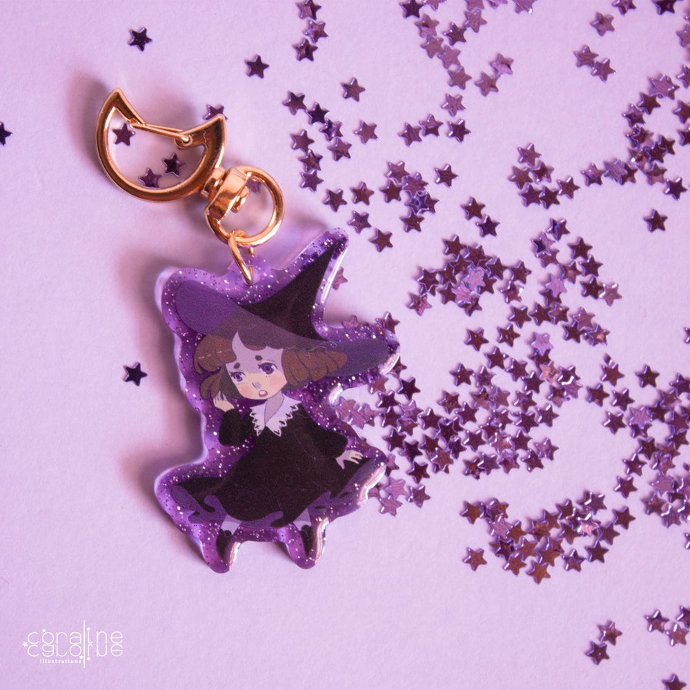 "Image of Witch Girl ""2 Acrylic Charm"