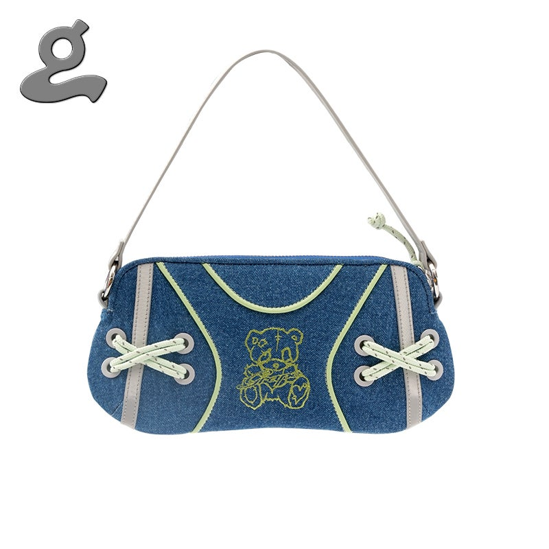 Image of Denim LittleBear Bag