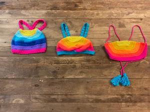Image of Mini Crochet Rainbow Brallete