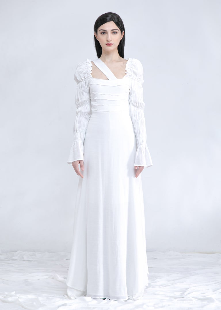 Image of SAMPLE SALE -Lela Maxi Dress & Gown In White (Shorter Length Version)