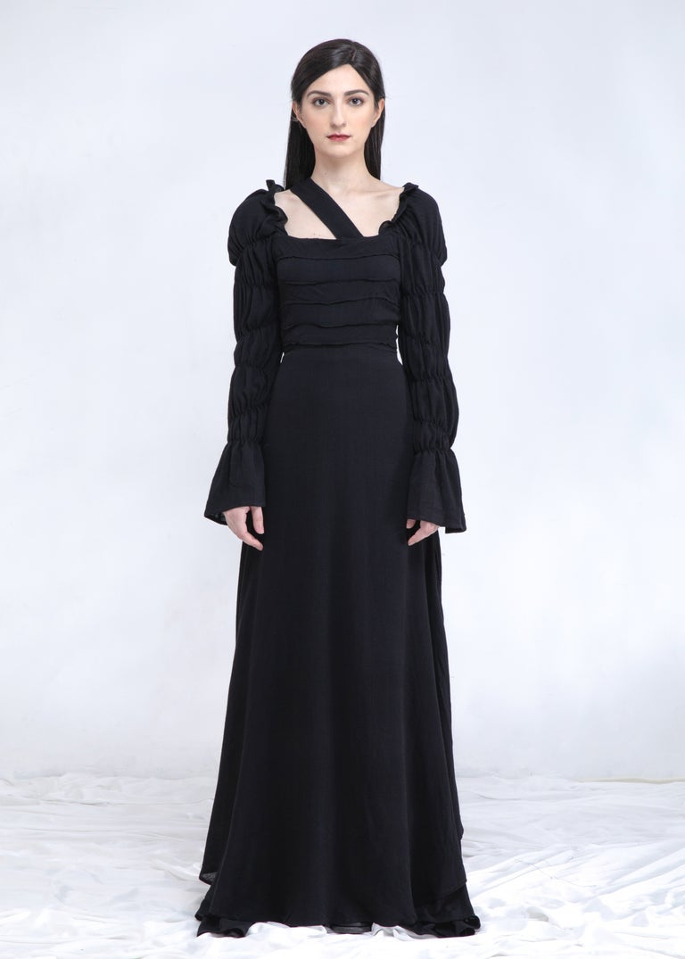 Image of SAMPLE SALE -Lela Maxi Dress & Gown in Black (Shorter Length Version)