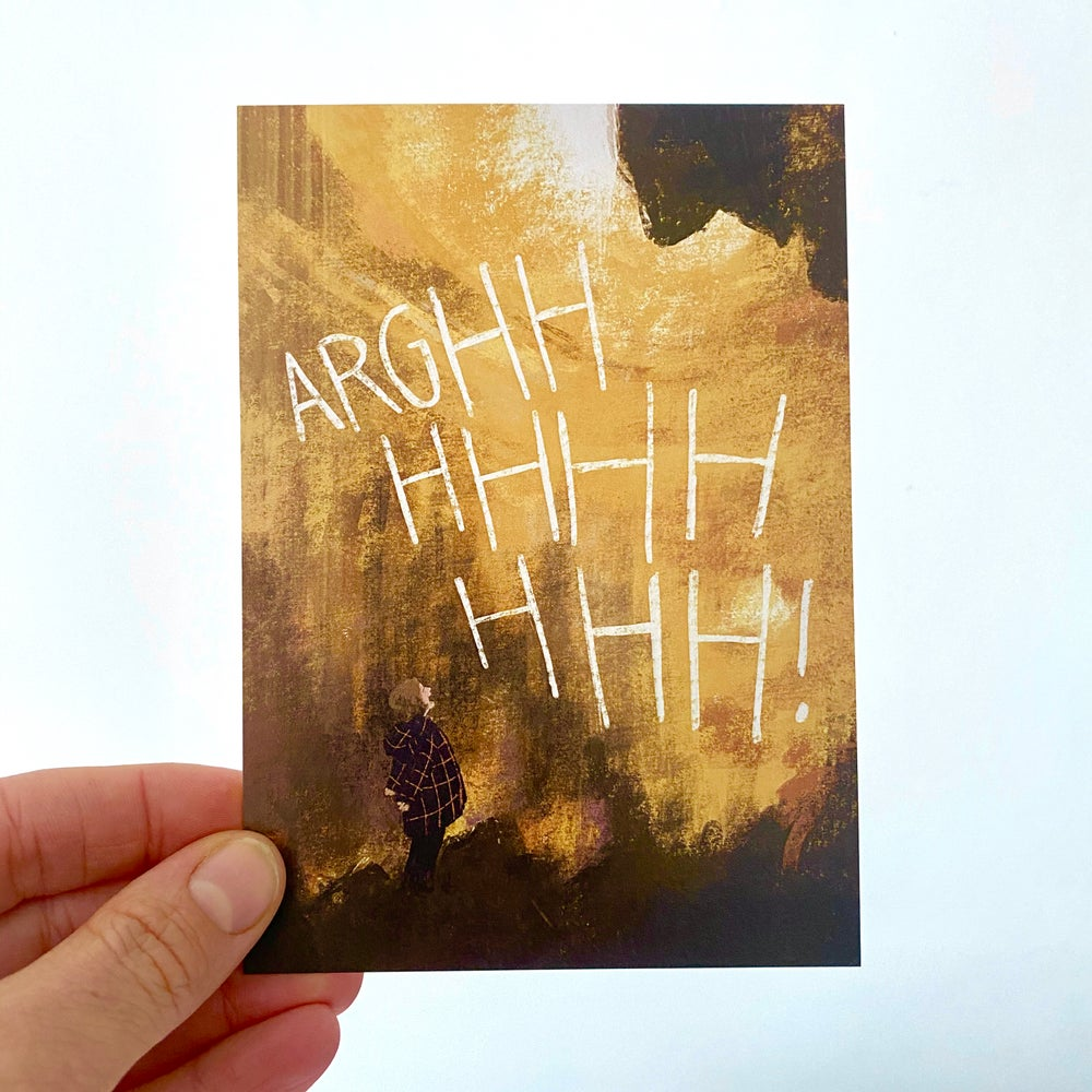 Image of 'ARGHHHHHHHHH!' Postcard - single or multipack