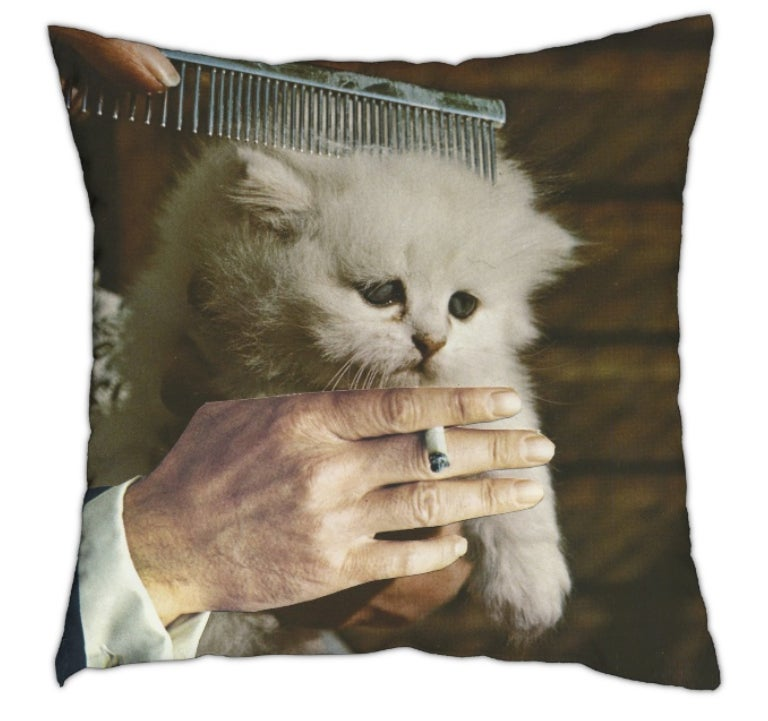 Image of untitled (kitty) - pillow