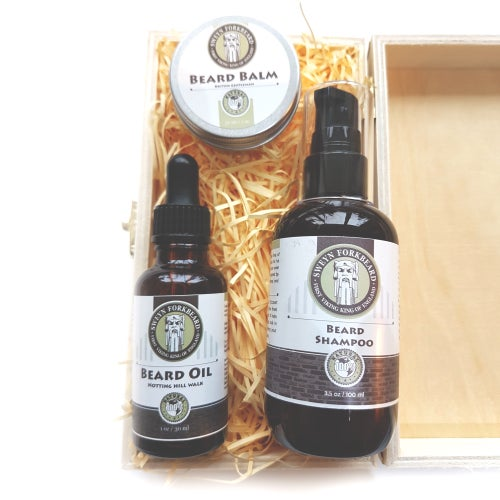 Image of Essentials for Growth and Care the Beard - Wooden Box