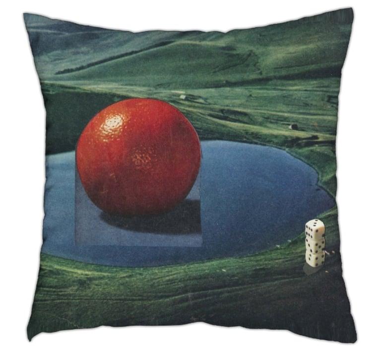 Image of untitled (orange lake) - pillow