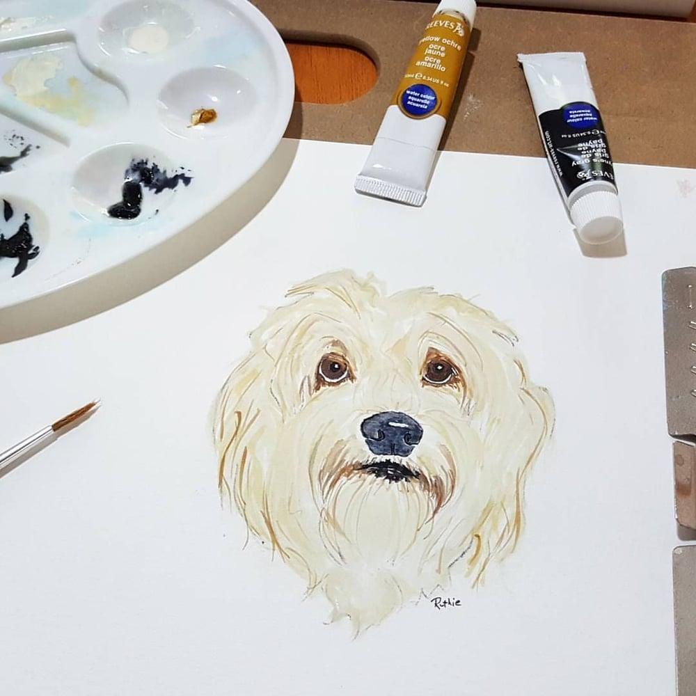Image of Custom Watercolor Pet Portrait
