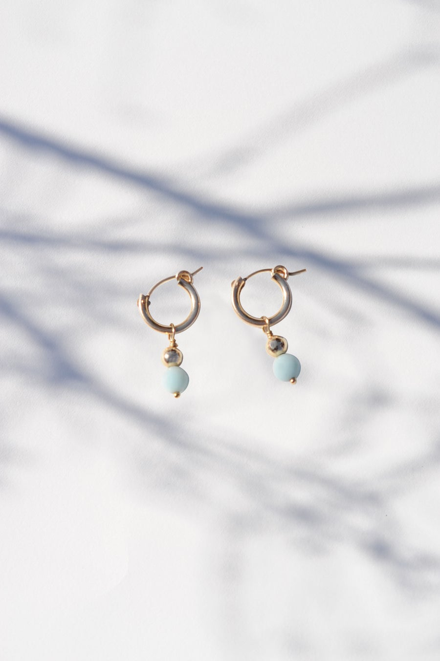 Image of Boucles Lupita agate bleue