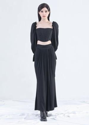 Image of SAMPLE SALE - Long Draped Mermaid Skirt With Front Ties